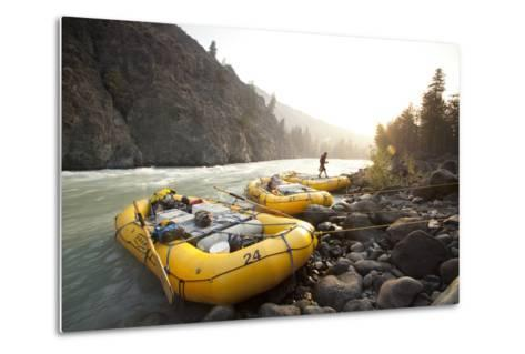 Whitewater Rafting on the Chilko River. British Columbia, Canada-Justin Bailie-Metal Print