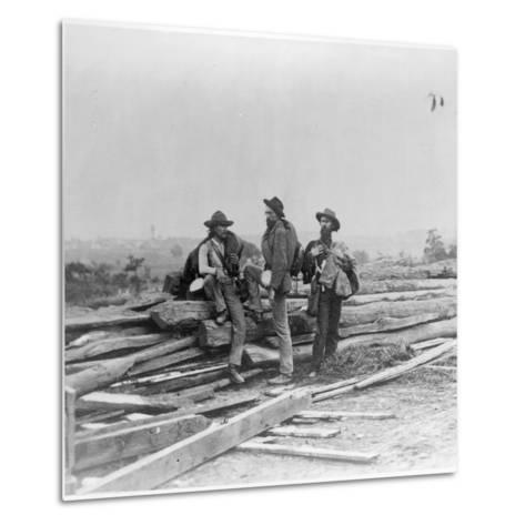 Three Confederate Prisoners, Gettysburg, Pennsylvania--Metal Print