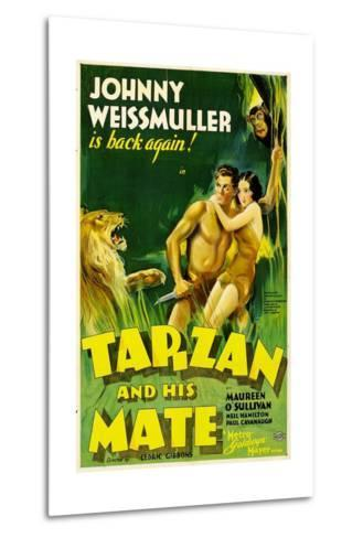 TARZAN AND HIS MATE, Johnny Weissmuller, Maureen O'Sullivan, 1934--Metal Print
