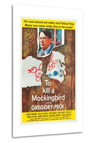To Kill a Mockingbird, Gregory Peck, 1962--Metal Print