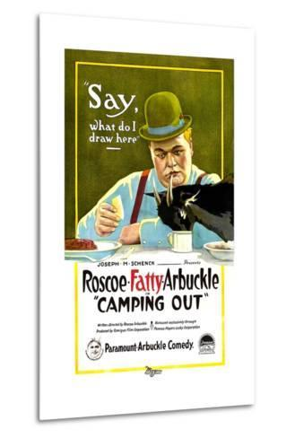 Camping Out, Roscoe 'Fatty' Arbuckle, 1919--Metal Print