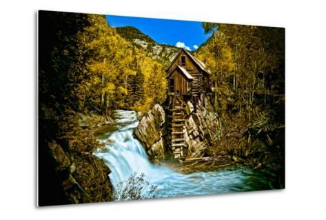 Crystal Mill Is an Old Ghost Town High Up in the Hills of the Maroon Bells, Colorado-Brad Beck-Metal Print