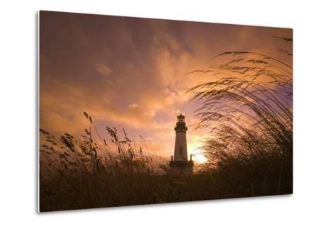 Yaquina Head Lighthouse at Sunset-Craig Tuttle-Metal Print