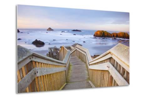 Rock Formations at Low Tide, Bandon Beach, Oregon Coast, Pacific Northwest. Pacific Ocean-Craig Tuttle-Metal Print