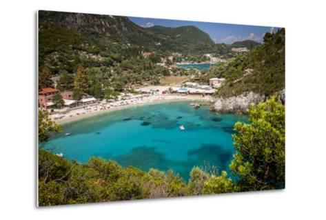 Vacation Resort of Paleokastritsa on the Ionian Island, Corfu, Greece-Brian Jannsen-Metal Print