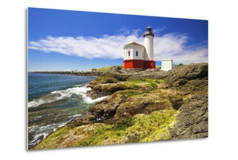 Afternoon Light on Coquille River Lighthouse, Bandon, Oregon Coast, Pacific Ocean-Craig Tuttle-Metal Print