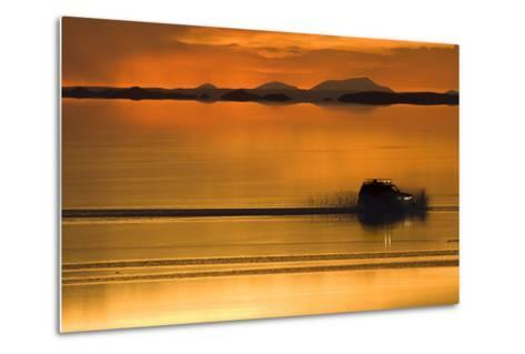The Salar De Uyuni, a Flooded Salt Flat, in Bolivia-Sergio Ballivian-Metal Print