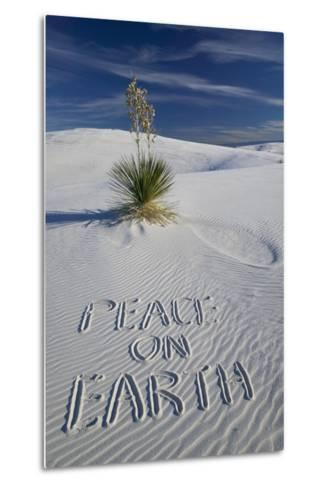 Peace on Earth Written in Sand-Darrell Gulin-Metal Print
