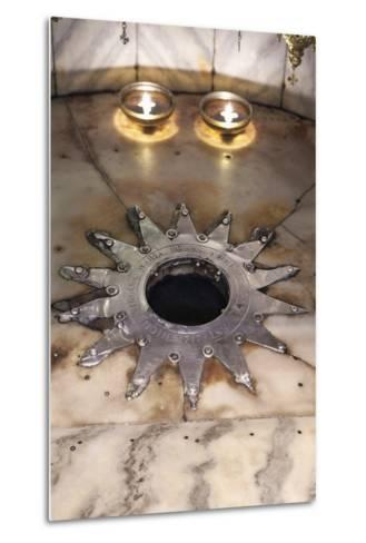 Star Marking the Place Christ Was Born, Church of the Nativity, Bethlehem--Metal Print