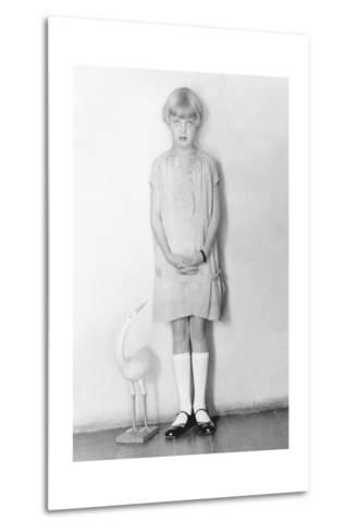 Girl with Stork, Mexico City, C.1926-Tina Modotti-Metal Print