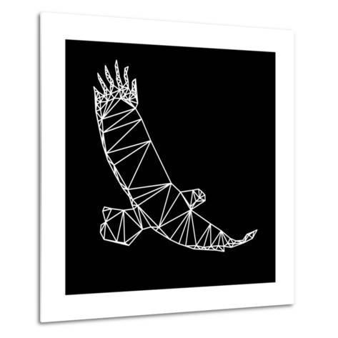 Black Eagle Polygon-Lisa Kroll-Metal Print
