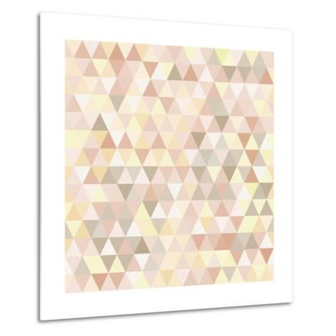 Triangle Neutral Abstract Background-IreneArt-Metal Print