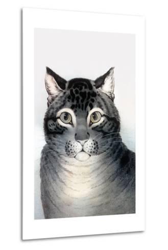 Favorite Cat-Currier & Ives-Metal Print