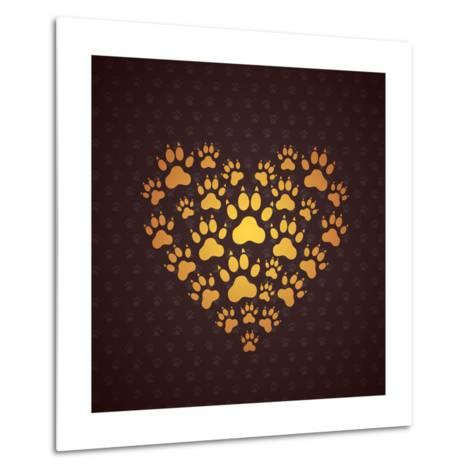 Heart of the Dog Traces.-MastakA-Metal Print