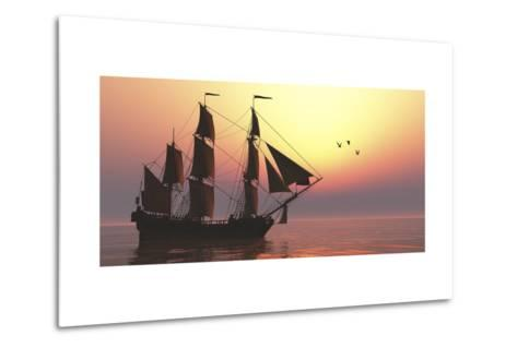 The Medusa Was a 40-Gun Frigate of the French Navy--Metal Print