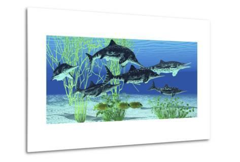 Stenopterygius Is an Extinct Icthyosaur from the Jurassic Age of Europe--Metal Print