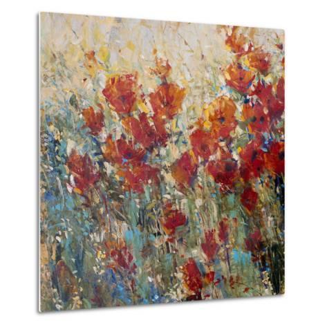 Red Poppy Field I-Tim O'toole-Metal Print