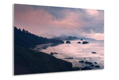 Milky and Stormy Morning at Cannon Beach, Oregon Coast-Vincent James-Metal Print