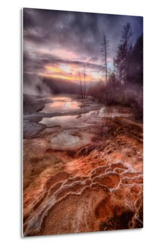 Colorful Geo Thermal Morning, Mammoth Hot Springs-Vincent James-Metal Print