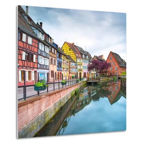 Colmar, Petit Venice, Water Canal and Traditional Houses. Alsace, France.-stevanzz-Metal Print