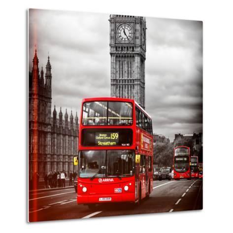 London Red Bus and Big Ben - City of London - UK - England - United Kingdom - Europe-Philippe Hugonnard-Metal Print