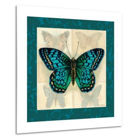 Silk Butterfly I--Metal Print