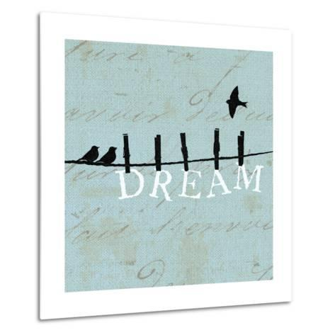 Birds on a Wire Square-Pela Design-Metal Print