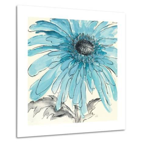 Gerbera Blue III-Chris Paschke-Metal Print