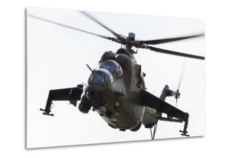 Polish Army Mil Mi-24V Hind in Flight--Metal Print