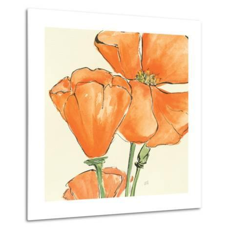 Sunshine Poppy III-Chris Paschke-Metal Print
