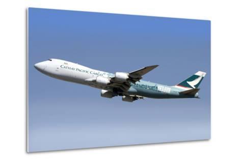 A Boeing 747-800 Cathay Pacific Cargo Hong Kong Trader--Metal Print