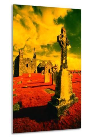 Stone Crosses and Ruins in a Bizarre Landscape-Richard Cummins-Metal Print