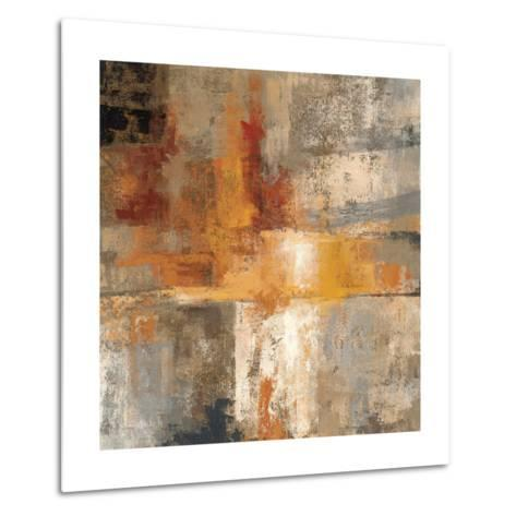 Silver and Amber Crop--Metal Print