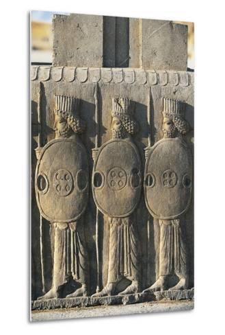 Bas-Relief Depicting Persian Guards--Metal Print
