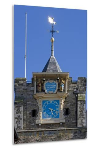 Clock (1561-1562) on Front of Parish Church of St Mary the Virgin (12th Century)--Metal Print
