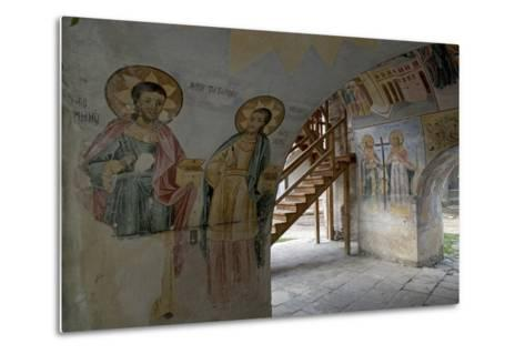 Frescoes in the Narthex of the Holy Mother of God Church (Sveta Bogorodica)--Metal Print