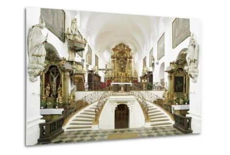 Interior of the Romanesque Basilica of St. Wenceslas (Founded in 1039 by Bretislaus I--Metal Print