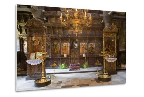 Interior of Most Holy Mother of God Church (1835) in Monastery of Dormition (Troyan Monastery)--Metal Print