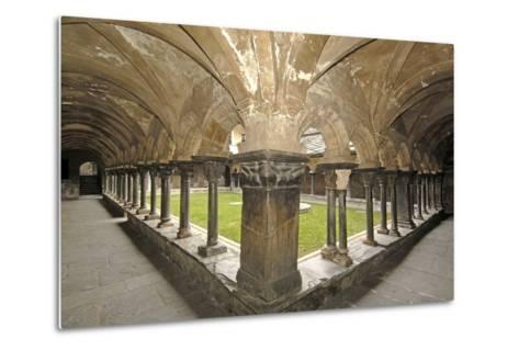 Romanesque Cloister (Built Circa 1133 and Renovated in 15th Century) of Collegiate Church of Saint--Metal Print