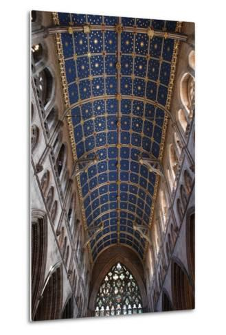 The Barrel Vault of the Central Nave of Carlisle Cathedral (Founded in the 12th Century)--Metal Print