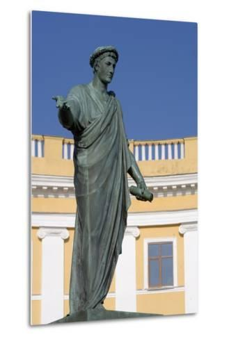 Statue of Armand-Emmanuel Du Plessis--Metal Print