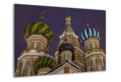 The Domes of Saint Basil's Cathedral (Hram Vasilija Blazennogo)--Metal Print