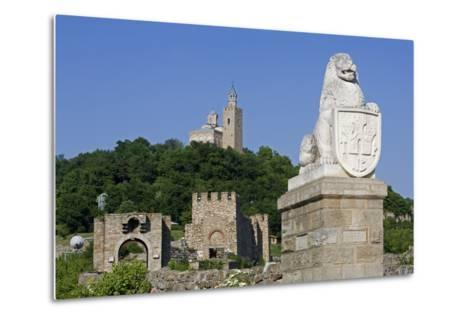 Tsarevets Fortress with Reconstructed Medieval Walls and St Salvatore Church on Top--Metal Print