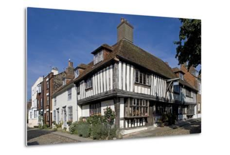 Traditional Style Buildings with Wooden Frame Structures in Church Square--Metal Print