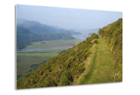 Footpath Skirting Steep Mountain Slope--Metal Print