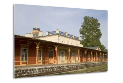 Former Railway Station (1904) Which Now Houses the Museum of Estonian Railways--Metal Print