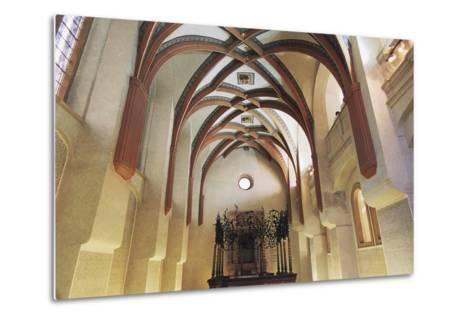 Interior of Pinkas Synagogue--Metal Print