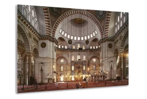 Interior of Suleymaniye Mosque--Metal Print