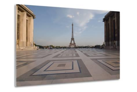 Eiffel Tower (1889) Seen from Chaillot Palace (1937) in Trocadero Gardens--Metal Print