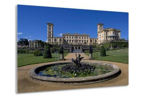 Fountain and Entrance to Gardens of Osborne House--Metal Print